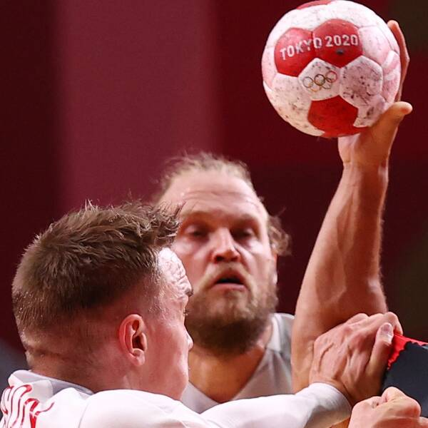 Danmark mötte Egypten i den olympiska handbollsturneringen,