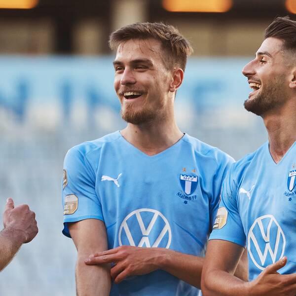 Malmös Jo Inge Berget, Pavle Vagic (i mitten) och Antonio-Mirko Colak.