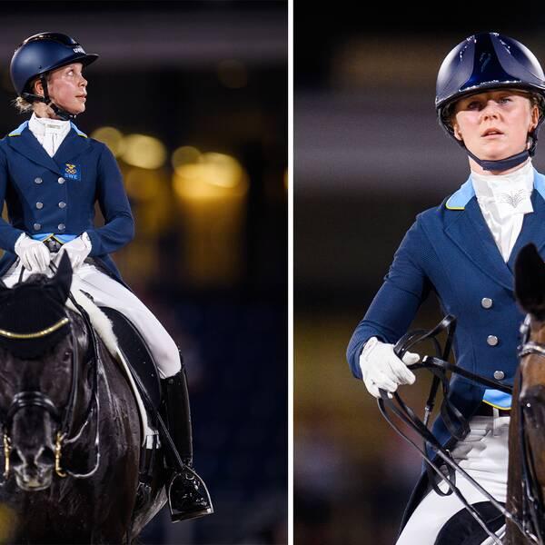 Therese Nilshagen (till vänster) och Juliette Ramel är Sveriges största hopp i dressyr-EM, där expert Gunilla Byström tror Sverige kan nå topp 5 i lagtävlingen.