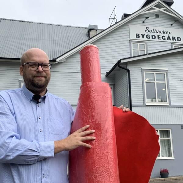 Solbackens ordförande, Christopher Dahlström, är redo för att från och med 29 september återigen ta emot många gäster.