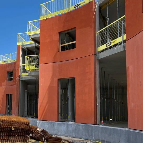 Hus som håller på att byggas