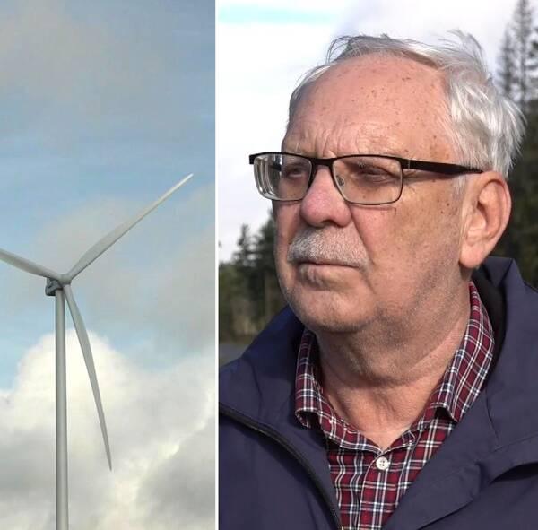 Hör markägarna Ivar Jansson och Sigvard Strutz berätta hur de ser på vindkraftsbygget.