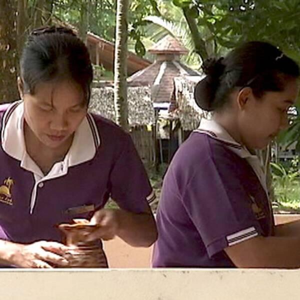 Städerskor på thailändskt hotell