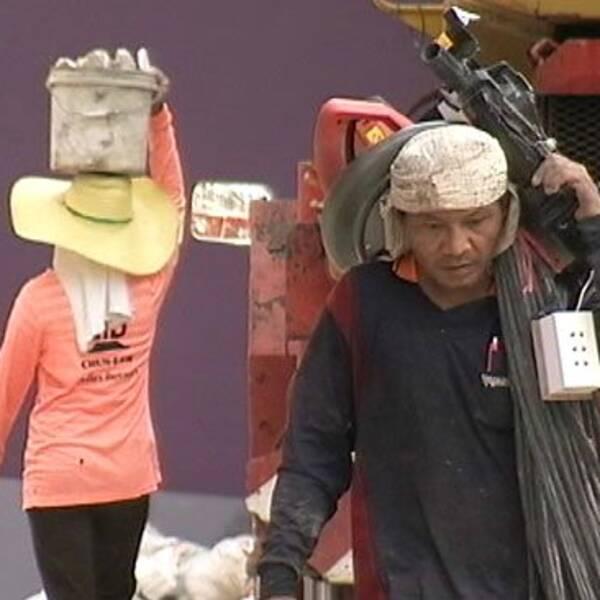Arbetare i Thailand