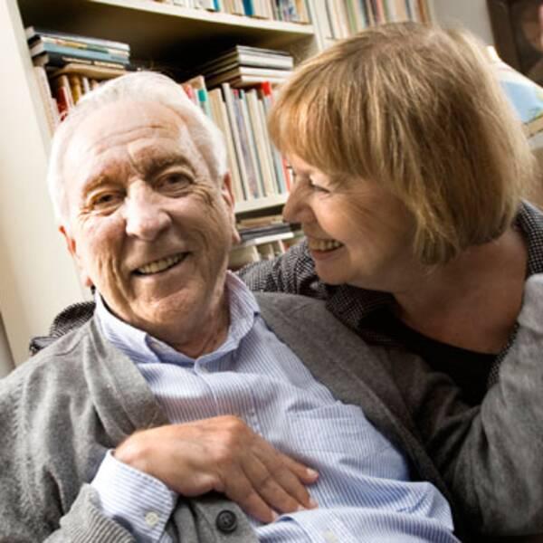 Poeten Tomas Tranströmer och hans hustru Monica.