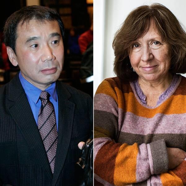 Haruki Murakami, Svetlana Aleksijevitj och Nquiqi Wa Thiongo'o är alla favorittippade.