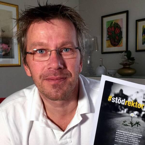 Bengt-Åke Claesson i stödgruppen för rektor Johan.