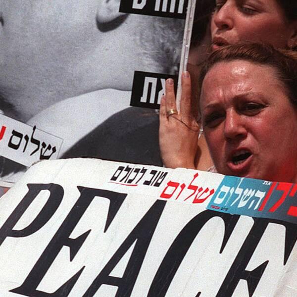 Israeliska demonstranter i Jerusalem.