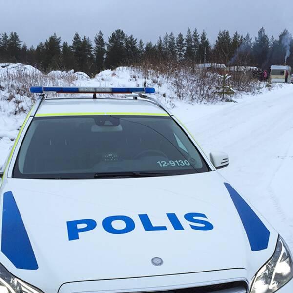 Polis EU-migrantläger i Umeå EU-migranter migrantläger avhysning