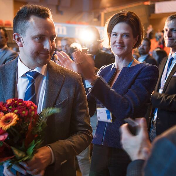 Moderaternas partisekreterare Tomas Tobé och partiledaren Anna Kinberg Batra