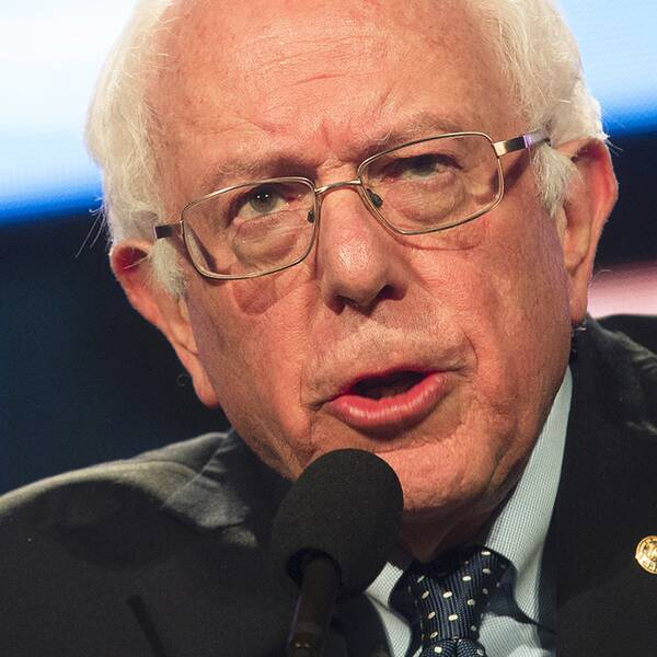 Den demokratiske presidentkandidaten Bernie Sanders.