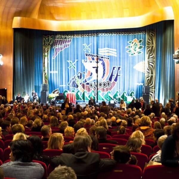 Scenen inne på biograf Draken i Göteborg.