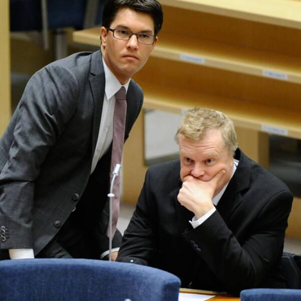 Partiledare Jimmie Åkesson och riksdagsman Lars Isovaara.