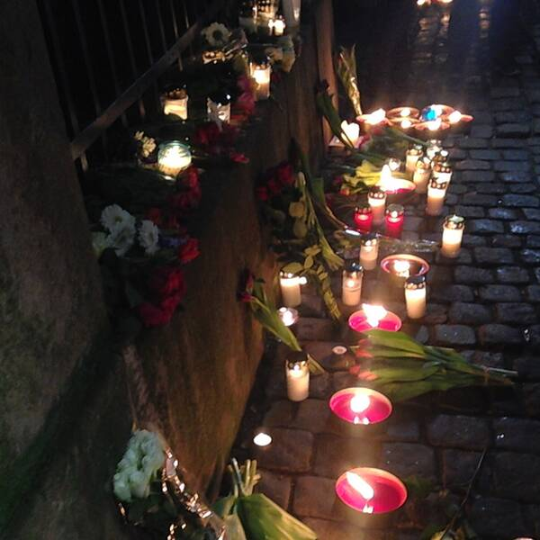 Ljusmanifestation i Köpenhamn.