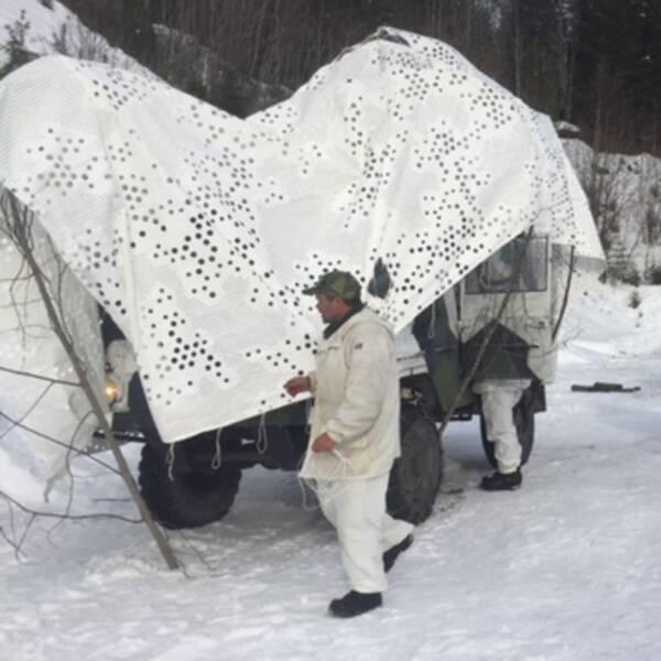 De hemvärnssoldater från Jämtland som deltar i Cold Response är på plats.