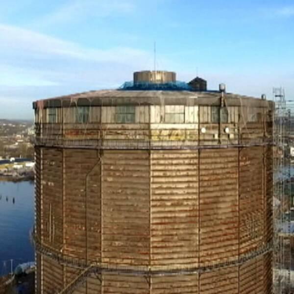 Den planerade rivningen av den gamla gasklockan i Göteborg har skjutits upp igen.