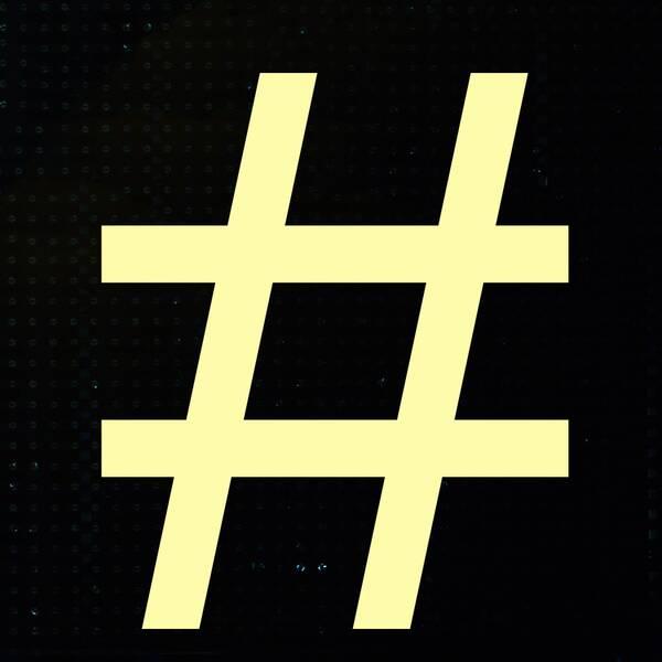 Montage: Frans och en hashtag.