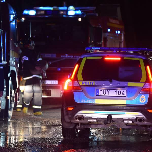 Brand vid planerat asylboende i Åker