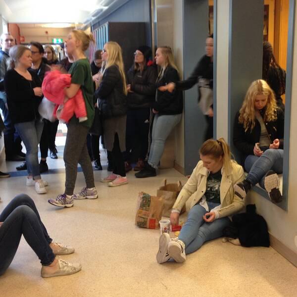 Elever på Risbergska skolan