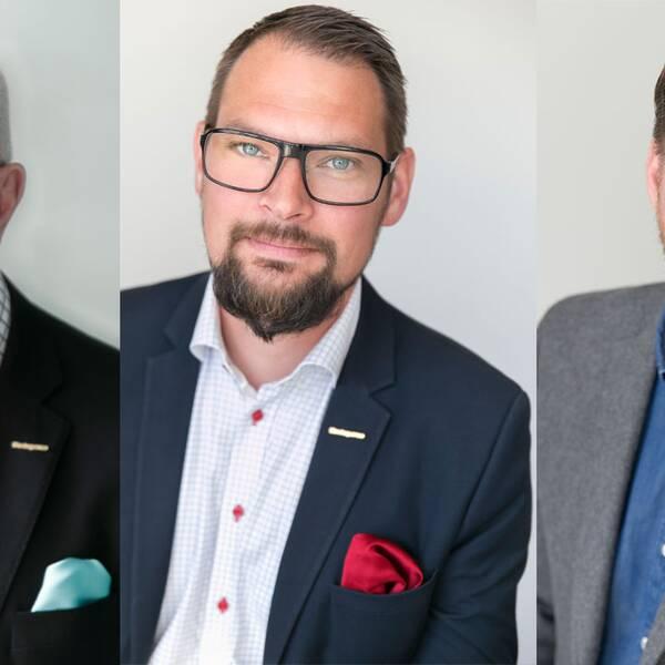 Torbjörn Halvardsson, regionchef i Västerbotten, Magnus Nilsson Engelbäck, regionchef i Skåne och Företagarnas vd, Günther Mårder.