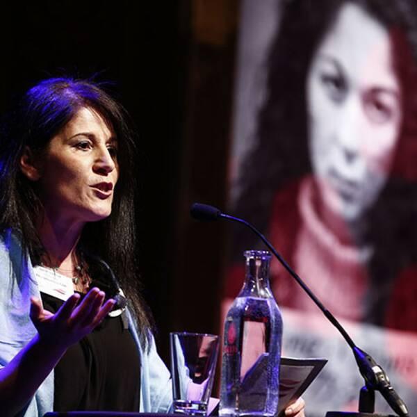 Sara Mohammad, ordförande för riksorganisationen GAPF, Glöm aldrig Pela och Fadime.