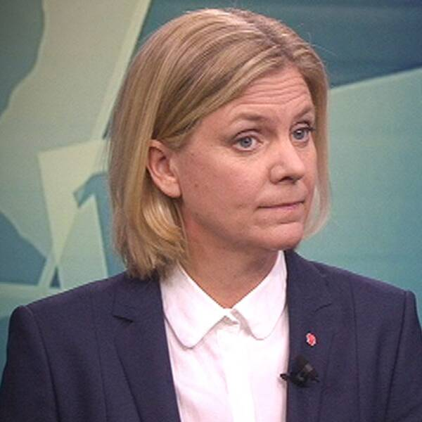 Magdalena Andersson (S) och Ulf Kristersson (M).