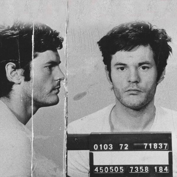 Lars-Inge Svartenbrandt fotograferad av polisen 1972.