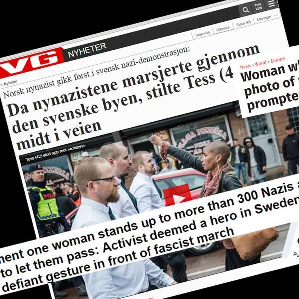Skärmdumpar från norska VG, Independent, Daily Mail och The Local.