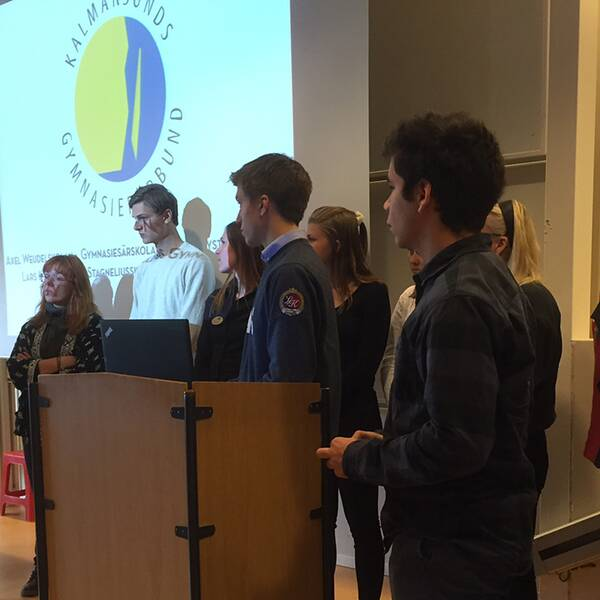 Kalmarsunds gymnasieförbund hade presskonferens.