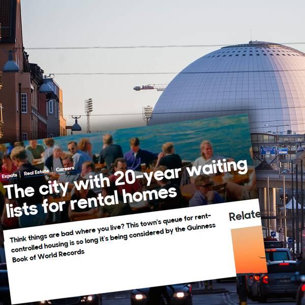 BBC uppmärksammar Stockholms bostadskö.
