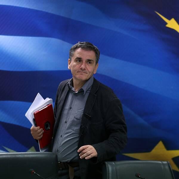 Euklidis Tsakalotos, Greklands finansminister.