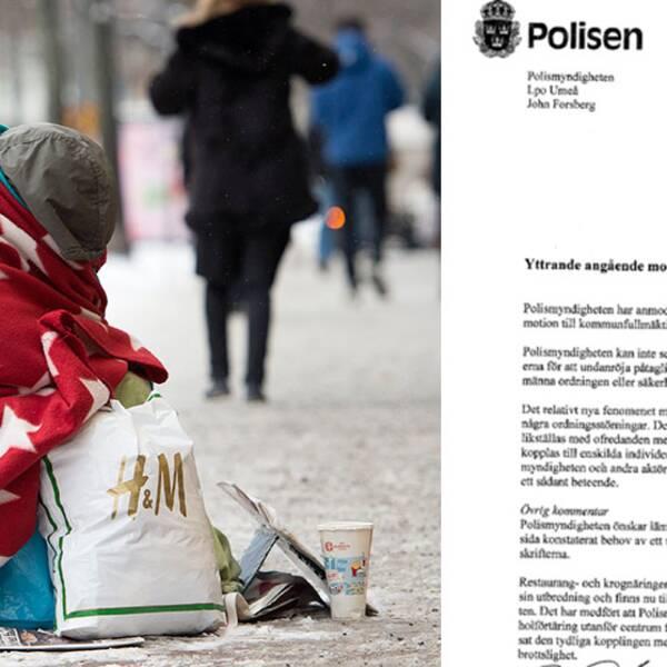 tiggare samt dokument från Polismyndigheten.