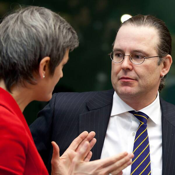 Danmarks finansminister Margrethe Vestager och svenske kollegan Anders Borg