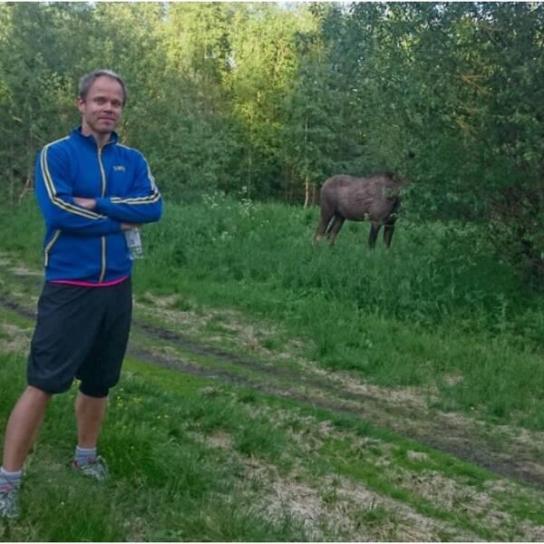– Det var mäktigt och spännande, tyckte Daniel Petterson efter att ha mött skogens konung i I20-skogen.