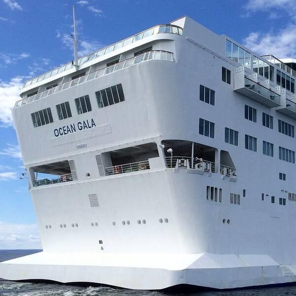 Fartyget Ocean Gala står sedan en dryg vecka vid kajen i Utansjö hamn. Nu har avfallsvattnet blivit ett problem.