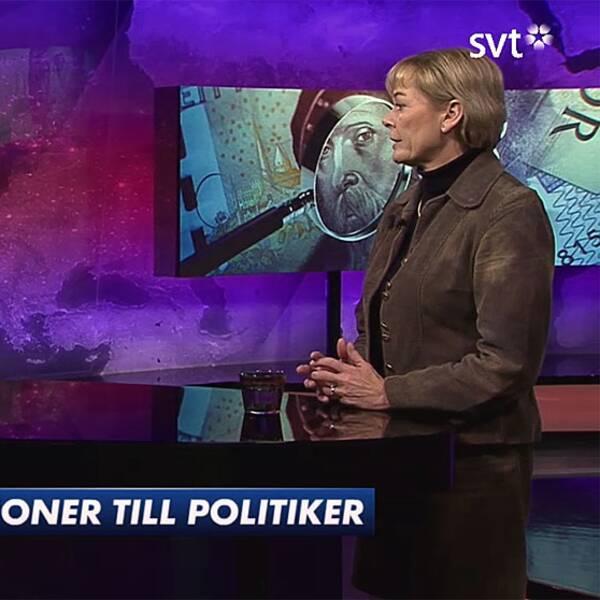 Ur Aktuellt Eva Thalen Finne (M) vill att fler före detta politiker ska arbeta.