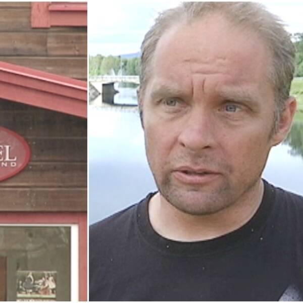 Per-Åke Gustavsson, arrendatorn av Sorsele River hotell.