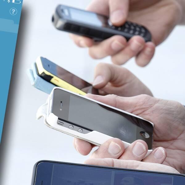 Händer med mobiler
