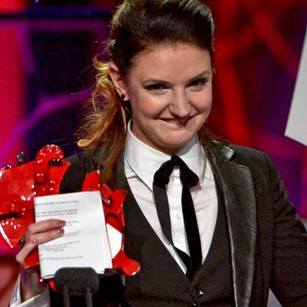 """Gabriela Pichler vann baggen för årets regi för """"Äta sova dö""""."""