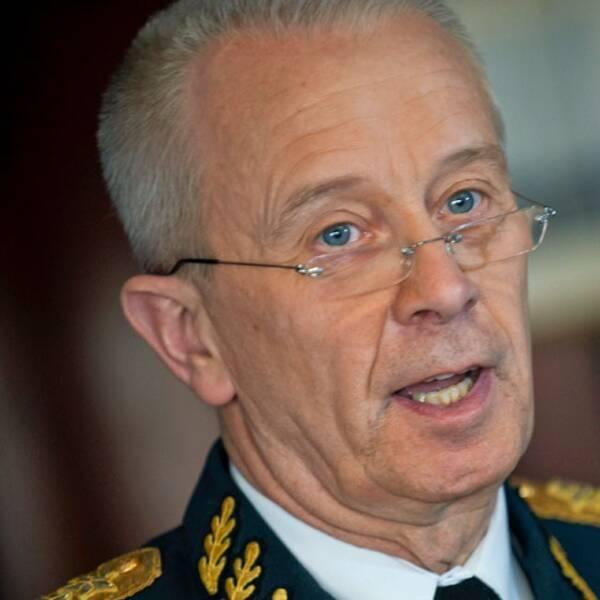 Sveriges överbefälhavare Sverker Göranson. Foto: Scanpix