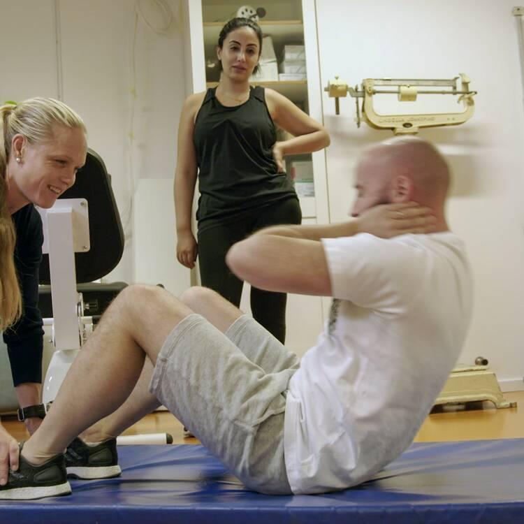 väger mer efter träning