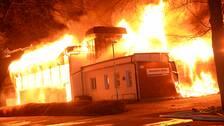 Skola brann ned mordbrand utreds