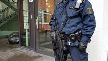 Explosion nara polishuset i uppsala