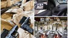 Kvinna hotade forare med vapen och snodde bilen