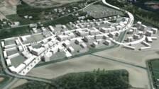 Skiss över nya området i Ormesta.