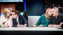 Alliansen i SVT:s studio på valnatten.