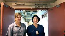 Susanna Althini och kollegan Irina Samsonova region gotland
