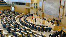 Plenisalen i riksdagen i Stockholm