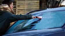 Det blir risk för frost i stora delar av landet under nästa vecka.