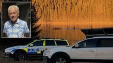 Polisen dyker i Hulitjärnens vatten i sökandet efter en försvunnen person.